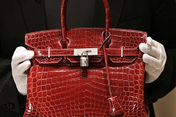 Rouge H Porosus Crocodile Handbag